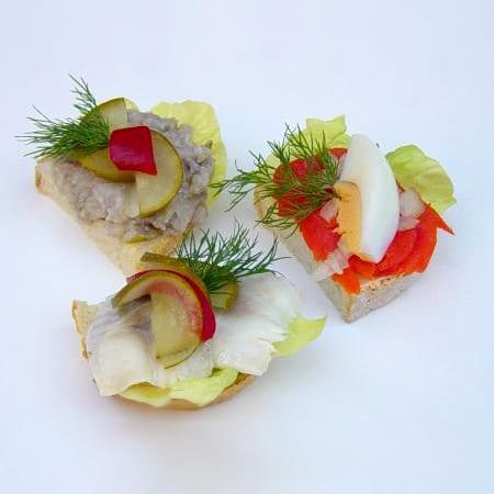 Häppchen diverse Fischwaren