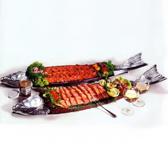 Lachsbrett mit Premiumräucherlachs von Feinkost Rogacki