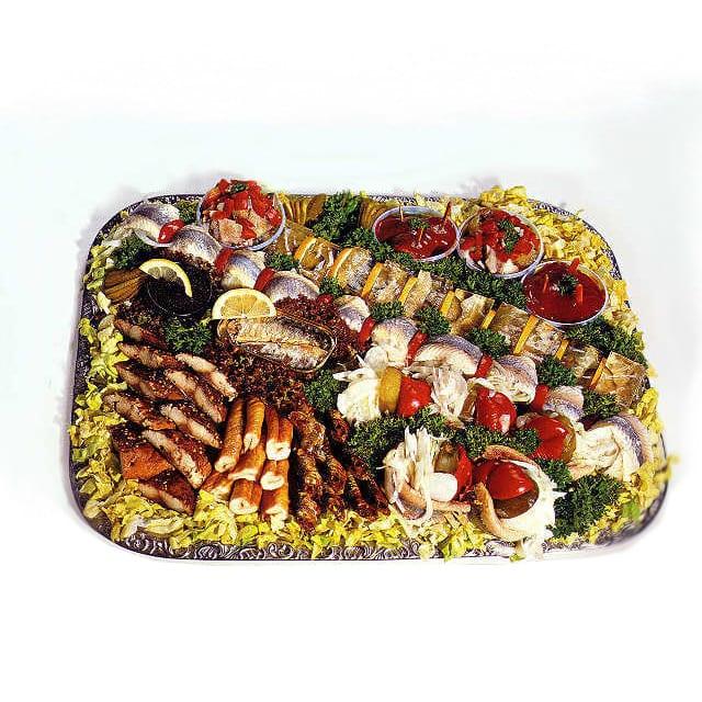 Schedenplatte mit Fischvariationen von Rogacki