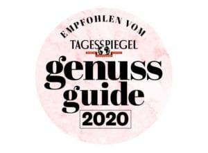 Auszeichnung Genussguide 2020 Tagesspiegel